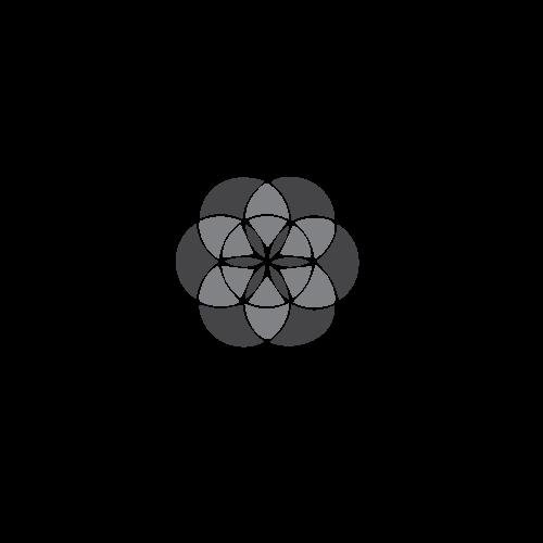 Bransoletka z efektowną zawieszką Kwiat Życia / logo La Tienne
