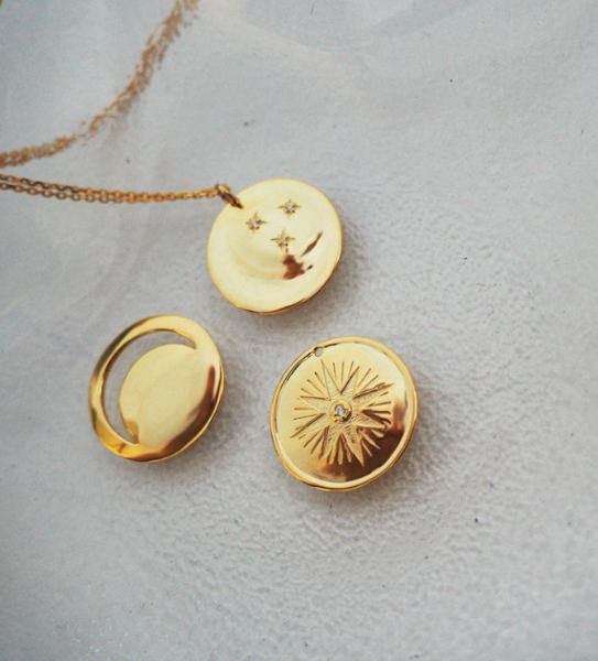 Naszyjnik Gwiazda z cyrkonią - różowe złoto