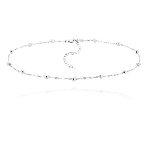 Choker kuleczki  SIMPLE SIlver Ball