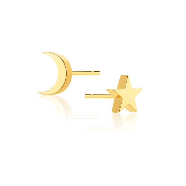 Kolczyki Księżyc i Gwiazdka