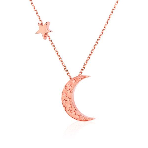 Naszyjnik Księżyc z Gwiazdką