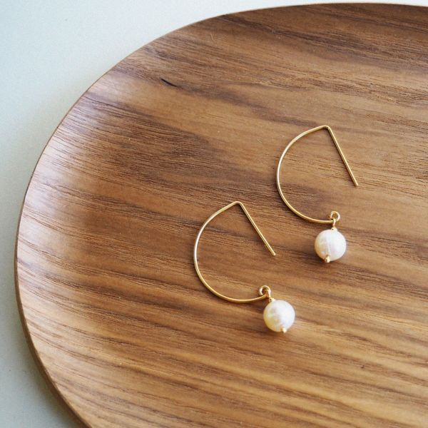 Kolczyki STAY SIMPLE No. 21 z perłą
