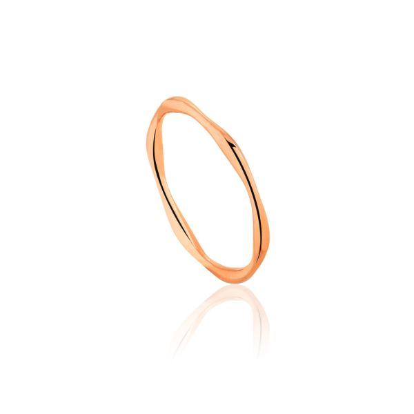 Naszyjnik koło nieregularne - rose gold